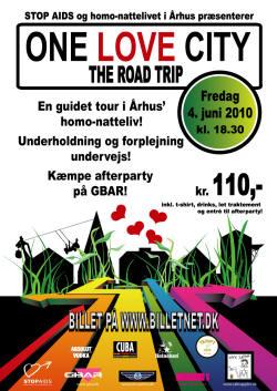 One Love City - The Road Trip - en guidet rundtur i Århus' homomiljø - fredag den 04.juni!